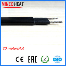 Good Quality 20 meters free shipping ultra thin pipe freeze protection self regulating heat trace heating cable
