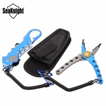 SeaKnight Multifunctional Aluminium Fishing Pliers+Folding Fishing Grip Stainless Steel Fish Controller Fishing Tackle Tool Set