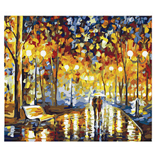 DIY Digital Pictures Night Oil Painting coloring by number drawing Art Wall Home Decoration Romantic Drawings Unique Gifts