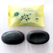 tourmaline Whitening Handmade Soap Lightening Skin Remove Acne Moisturizing face deep Cleansing Bath Soap L4(China)
