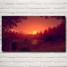 Firewatch Mountains Forest Video Games Art Silk Poster Prints For Bedroom Decor Printing 11x20 16x29 20x36 Inches Free Shipping(China)