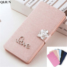 QIJUN Brand PU leather Flip Cover For Samsung Galaxy Trend Plus S7580 S7582 GT-S7580 Mobile Phone Case Cover Protective shell