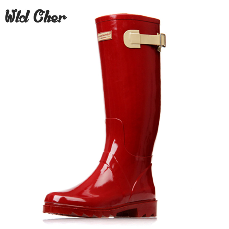 Catching 2017 New Fashion Women Shoes Punk Style Heel Riding Boots Zipper Shoes Knight Tall Boots Women Rain Boots Large Size 41<br>