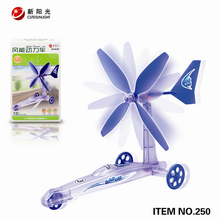 Educational DIY Kits Wind Powered Car Green Energy Assembled Toys For Kids Children Free Shipping