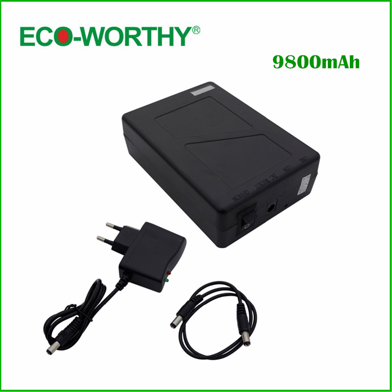 DC 12V 9800mAh Portable Rechargeable Lithium-ion Battery Pack for Loudspeaker(China)