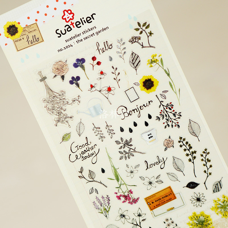 Fresh Style Secret Garden Adhesive Stickers Scrapbooking DIY Decoration Stickers Mobile Phone Stickers<br><br>Aliexpress