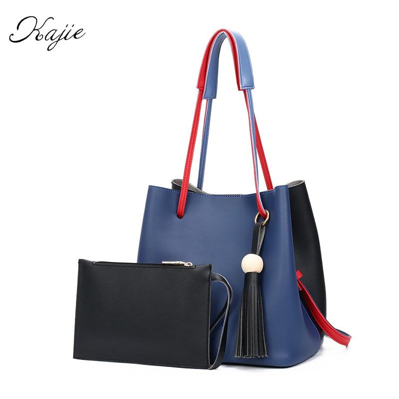 Kajie Women Messenger Bags Hit Color Tassels Fashion Bucket Bag Vintage Designer Shoulder Tote bag Ladies Tassel Leisure Handbag<br><br>Aliexpress