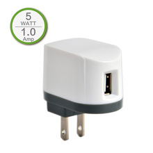 1A USB Port US Home Charger Adapter for iPhone 3 3G 3Gs iPhone 5 5s 5c 6 plus Samsung Mobile Power Bank, Travel Charger, Wihte