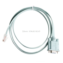 RJ45 Cat5e CAT6 to RS232 DB9 Console Router Cable #R179T#Drop Shipping