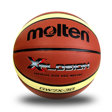 Genuine Molten BGW7X-3G Baloncesto PU Leather Official Size 7 Men's Basketball Ball Indoor Training With Free Ball Net Needle(China)