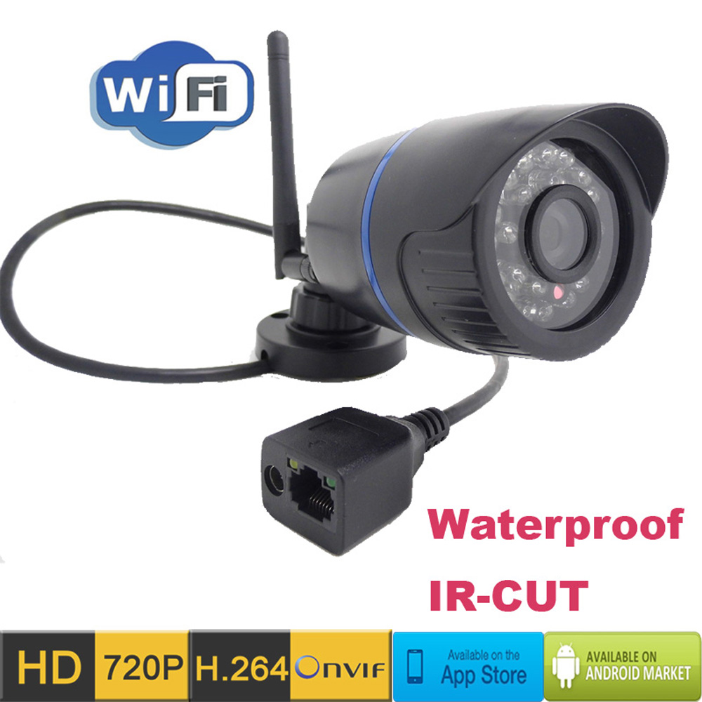 Ip Camera Wireless Wifi HD 720P Outdoor waterproof Surveillance Security video home Bullet cameras sd card Camera Infrared p2p <br>