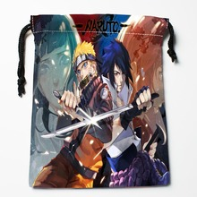 New Arrival Naruto and Sasuke Naruto Drawstring Bags Custom Storage Printed Receive Bag Type Bags  Storage Bags Size 18X22cm