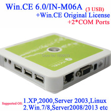 Thin Client N380 with 2* RS232 embeded win.ce 6.0 original license 3 usb port white windows 7 or 8 linux etc supported