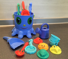 14Pcs/set Cute Octopus Beach Toys Sandy Dredging tool Beach Bucket Sunglass Baby Playing with Sand Water Toys Bucket Spade Mold(China)