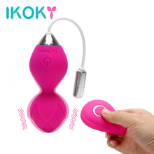 Buy IKOKY Tighten Exercise Vaginal Sex Toys Women Vibrating Egg G Spot Massage Vibrator Kegel Ball Wireless Remote Control