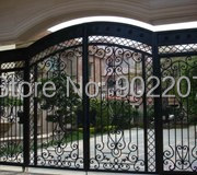 Henchuang wrought iron gate forged iron gates villa wrought iron gates steel metal iron copper gate