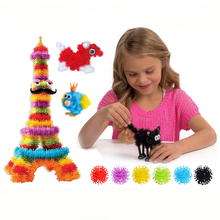400pcs Kid Educational Assembling 3D Puzzle Toys DIY Puff Ball Clusters Squeezed Creative Shape Brain teaser Toy  For Children