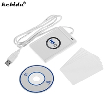 Buy kebidu Hot NFC Reader Writer Copier Duplicator USB ACR122U RFID Smart 13.56mhz Card NFC (ISO/IEC18092) Tags + 5pcs IC Card for $29.05 in AliExpress store