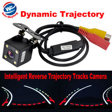 2018 Hot Intelligent Dynamic Trajectory Tracks Rear View Camera HD CCD Reverse Backup Camera Auto Reversing Parking Assistance(China)