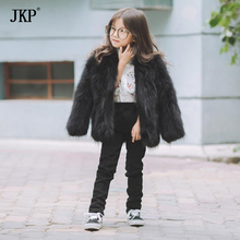 Winter Fashion Kids Girls Raccoon Fur Coat Baby Fur Coats & Jackets children For Warm Coat For Boys(China)