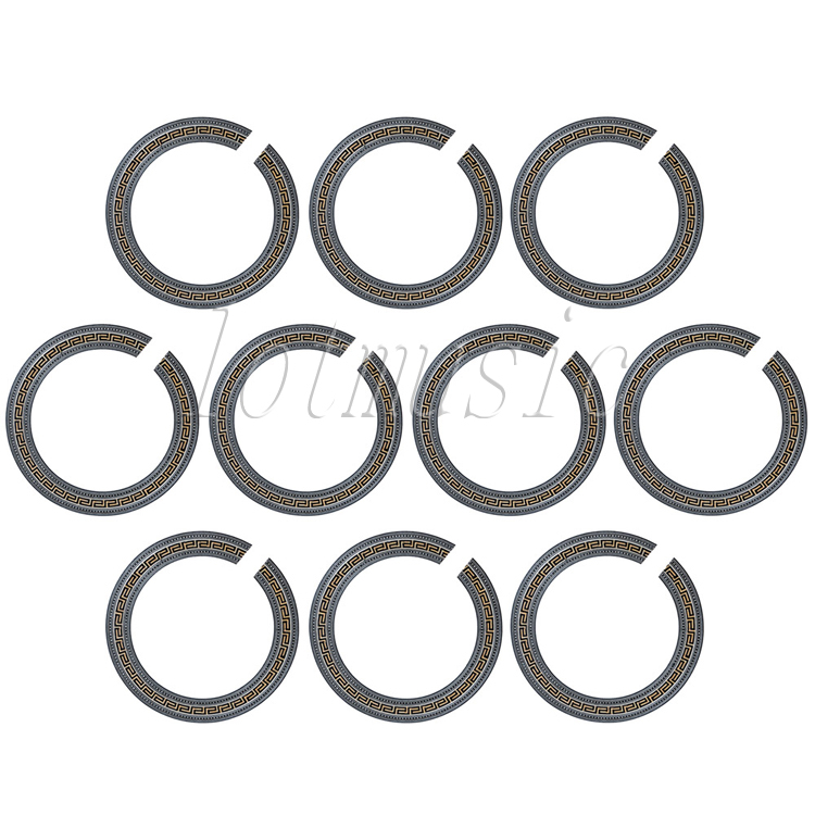 10PCS Luthier Supply- Acoustic Guitar Body Project Soundhole Rosette Inlay Basswood<br>