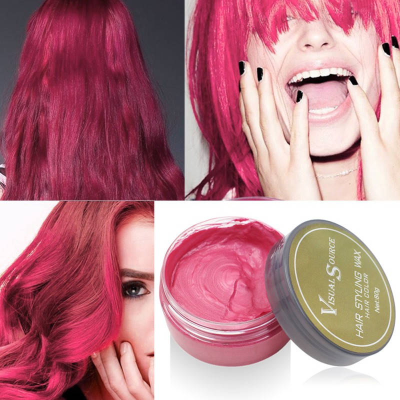 Professional Dynamic Modeling Hair Wax Makeup 5 Colors Hair Dye Wax Hair Color One-time Molding Paste Color Hair Wax New 2018 7