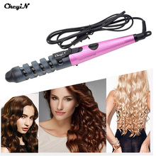 CkeyiN Professional 2017 Hair Curler Hair Styler Convenient Useful Rollers Hair Salon Spiral Ceramic Curling Iron 100-240V P00(China)