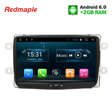 "8"" 1Din Android 6.0 Car Radio GPS Navigation Multimedia Stereo For Renault Dacia Duster Sandero Lodgy Dokker Symbol Auto Player(China)"