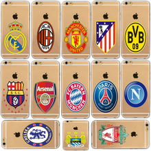 Football Soccer Clubs Team Logo Soft Silicone Phone Cases For iphone 5C Samsung Galaxy S3 S4 S5 S6 S7 Edge S8 J5 Prime A5 2017
