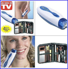 2015 AS SEEN ON TV Wizzit hair remover set High Quality electric epilator + makeup tools + storage bag lady suit TV in stock(China)