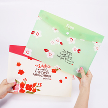 4PCS Creative PVC A4 File Ticket Folder Durable Document Bag Paper File Folders Stationery School Office Supplies
