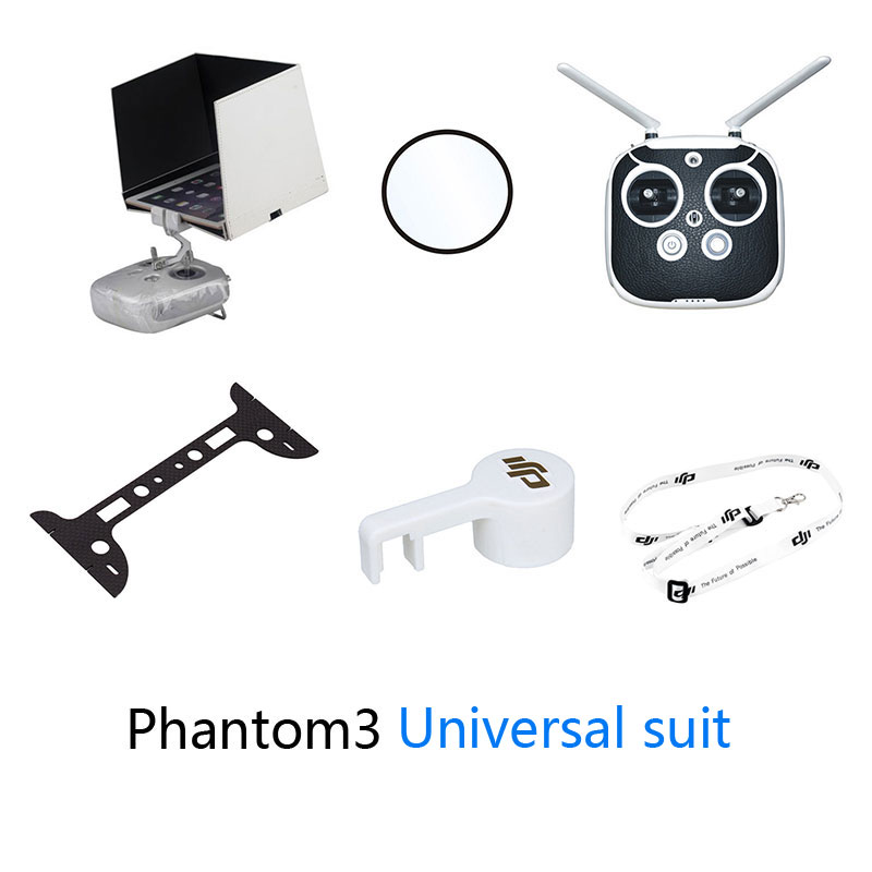 UAV DJI Phantom 3 Camera protective Plate set Universal suit Camera protective film Remote Sling/Sticker light shield plate<br><br>Aliexpress
