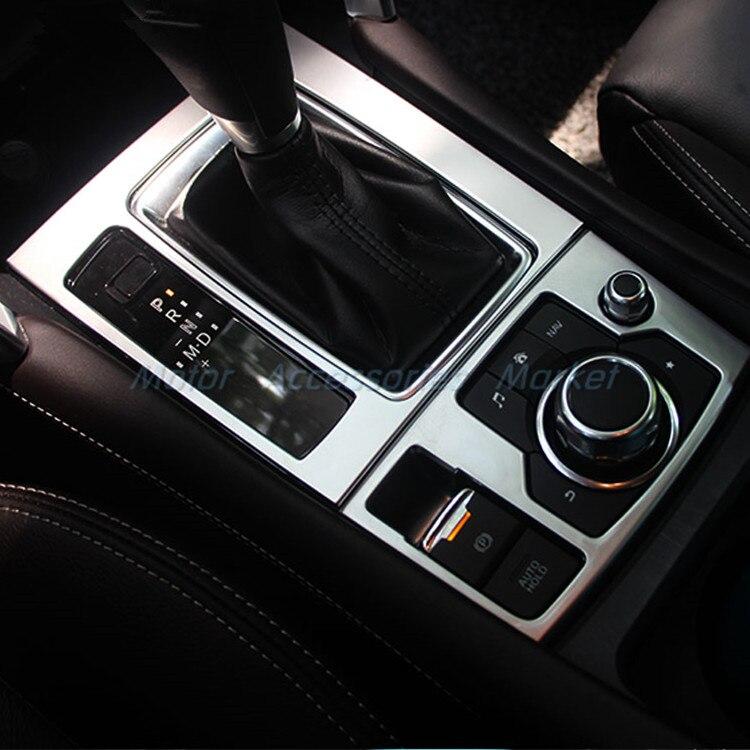 For Mazda 2017-2019 CX-5 CX5 Gear Shift Knob Console Media Panel Cover Black