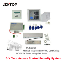 180KG Magnetic Lock Standalone RFID Access Controller DC12V 3A Power Supply RFID Card Z/L Bracket Access Control System(China)