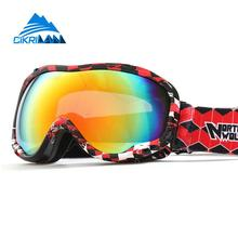 Hot Sale Professional Outdoor Sport Ski Snowboard Goggles Double Lens Anti Fog Anti-uv Snow Motocross Skiing Glasses Men Women(China)