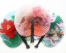 Chinese Style Paper Fan Round Peony Magpie Hand Fan Folding Wedding Party Supplies Colorful Wedding Decoration
