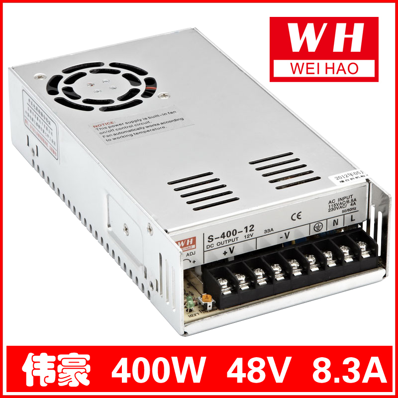 DC48V/8.3A 400W switching power supply DC 2-year warranty Model S-400-48<br>