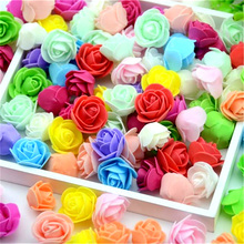 100PCS Artificial Mini PE Foam Rose Flower Head Handmade DIY Wedding Home Party Decoration DIY Scrapbooking Wreath Fake Flower(China)