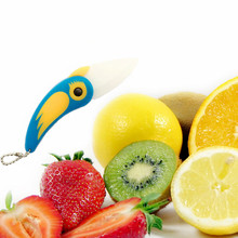 NEW 1 Piece Bird Shaped Ceramic Folding Knife Kitchen Outdoor Camping Home Fruit Vegetable Cutting Paring Mini Knife Wholesale