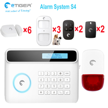 iOS App Remote Control Multilingual Languages Hot Seller 50 Wireless & 2 Wired Zone wireless house alarms systems etiger alarm(China)