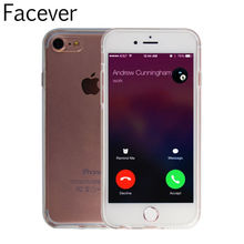 360 Degree Coque For iPhone 6 6S Plus Clear Silicone + HD Screen Protector Full Body Coverage Case For iPhone 7 7 Plus Fundas