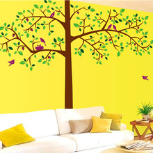 Factory Outlets Fifth Generation Of Removable Wall Stickers Wall Stickers Transparent PVC Film Giant Trees