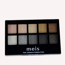 MEIS Brand Makeup Cosmetics Professional Makeup 10 Colors Eye Shadow Eyeshadow Palette Matte Eyeshadow Eye Shadow Palette MS022B