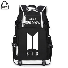 "[NEWTALL] Kpop BTS Bangtan Boys 2017 New Logo ARMY Letter Backpack Large Capacity 17"" Travelling Bag Fans Collection 17071299"