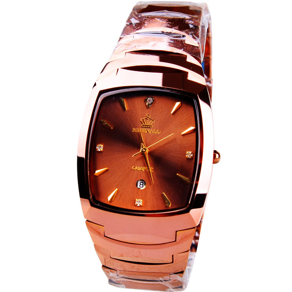Origianl HK Brand  Beerbarrel shaped calendar male tungsten Stainless steel watches male Business watch 163752<br>