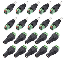 Promotion! 10 Pairs Male and Female 2.1x5.5mm DC Power Plug Adapter Connector Jack For CCTV