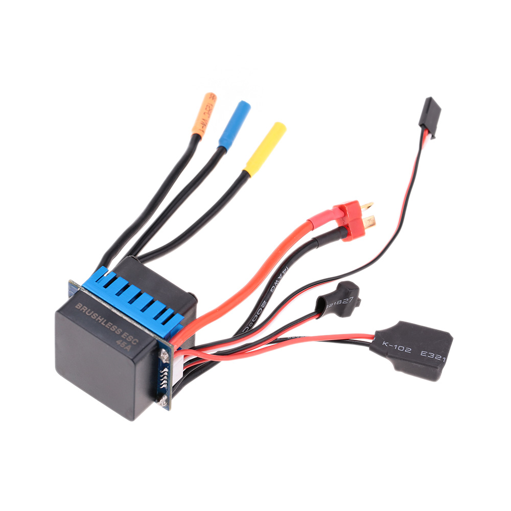 OverSeaStock 3650 4370KV 4P Sensorless Brushless Motor with 45A Brushless ESC(Electric Speed Controller)for 1/10 RC Off-Road Car(China)