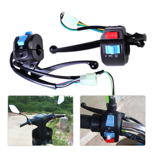 "2Pcs 7/8"" Horn Turn Signal Electric Start Handlebar Lever Controller Switch for Harley Bobber Suzuki Chopper Triumph KTM Scooter"