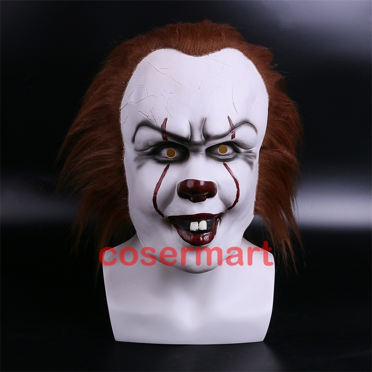 Halloween Pennywise Costume Stephen King IT 2 Scary Clown Man Cosplay Prop Girl Children Toy Trick or treat (2)