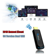 2016 Ezcast 5G Dual wifi Android TV Stick Miracast  Airplay Dongle 1080P Mini PC Better than Google Chromecast 2 Generation